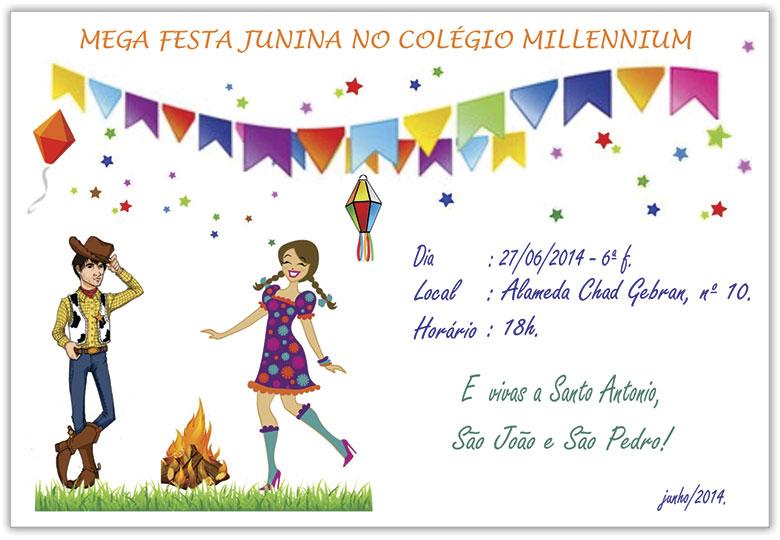 Mega Festa Junina no Colégio Millennium 2014